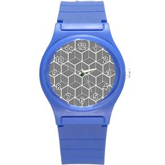 Cube Pattern Cube Seamless Repeat Round Plastic Sport Watch (s)