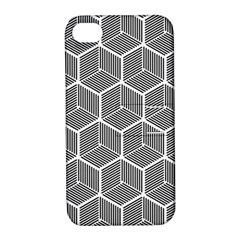 Cube Pattern Cube Seamless Repeat Apple Iphone 4/4s Hardshell Case With Stand