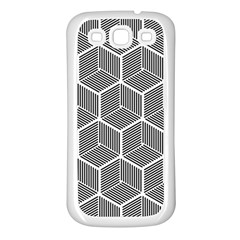 Cube Pattern Cube Seamless Repeat Samsung Galaxy S3 Back Case (white)