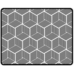 Cube Pattern Cube Seamless Repeat Double Sided Fleece Blanket (medium)