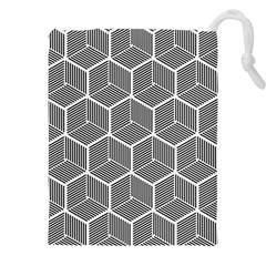 Cube Pattern Cube Seamless Repeat Drawstring Pouches (xxl)