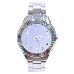 Zigzag Chevron Thin Pattern Stainless Steel Analogue Watch