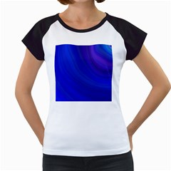 Blue Background Abstract Blue Women s Cap Sleeve T