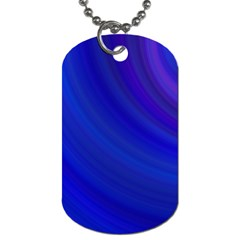 Blue Background Abstract Blue Dog Tag (one Side)