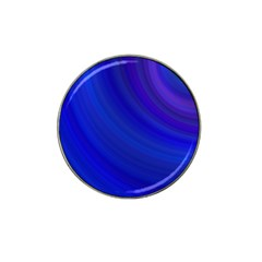 Blue Background Abstract Blue Hat Clip Ball Marker (4 Pack)