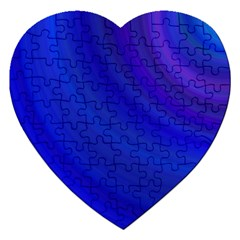Blue Background Abstract Blue Jigsaw Puzzle (heart)