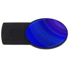 Blue Background Abstract Blue Usb Flash Drive Oval (4 Gb)