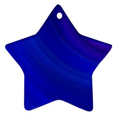 Blue Background Abstract Blue Star Ornament (two Sides)