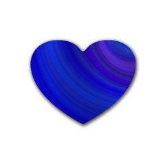 Blue Background Abstract Blue Heart Coaster (4 Pack)