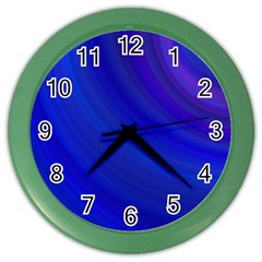 Blue Background Abstract Blue Color Wall Clocks
