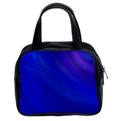 Blue Background Abstract Blue Classic Handbags (2 Sides)
