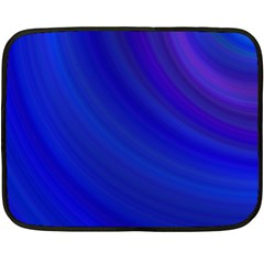 Blue Background Abstract Blue Double Sided Fleece Blanket (mini)