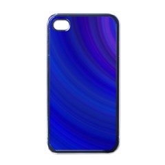 Blue Background Abstract Blue Apple Iphone 4 Case (black)