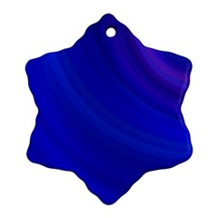 Blue Background Abstract Blue Snowflake Ornament (two Sides)