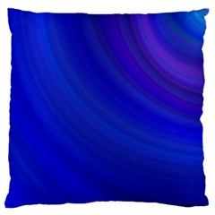 Blue Background Abstract Blue Large Cushion Case (two Sides)