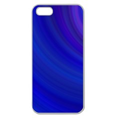 Blue Background Abstract Blue Apple Seamless Iphone 5 Case (clear)