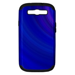 Blue Background Abstract Blue Samsung Galaxy S Iii Hardshell Case (pc+silicone)