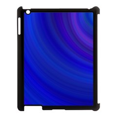 Blue Background Abstract Blue Apple Ipad 3/4 Case (black)