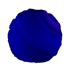 Blue Background Abstract Blue Standard 15  Premium Round Cushions