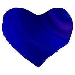 Blue Background Abstract Blue Large 19  Premium Heart Shape Cushions