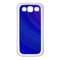Blue Background Abstract Blue Samsung Galaxy S3 Back Case (white)