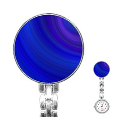 Blue Background Abstract Blue Stainless Steel Nurses Watch