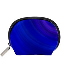 Blue Background Abstract Blue Accessory Pouches (small)