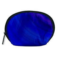Blue Background Abstract Blue Accessory Pouches (medium)