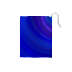 Blue Background Abstract Blue Drawstring Pouches (small)