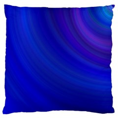 Blue Background Abstract Blue Large Flano Cushion Case (one Side)