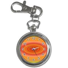 Ellipse Background Orange Oval Key Chain Watches
