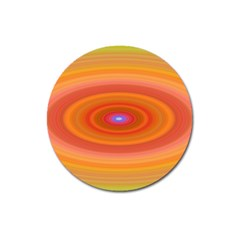 Ellipse Background Orange Oval Magnet 3  (round)