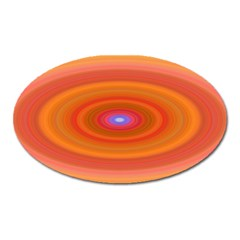 Ellipse Background Orange Oval Oval Magnet