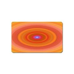 Ellipse Background Orange Oval Magnet (name Card)