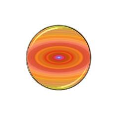 Ellipse Background Orange Oval Hat Clip Ball Marker (10 Pack)