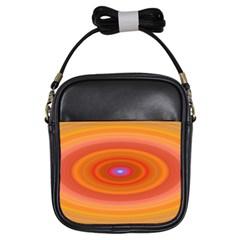 Ellipse Background Orange Oval Girls Sling Bags