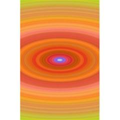 Ellipse Background Orange Oval 5 5  X 8 5  Notebooks