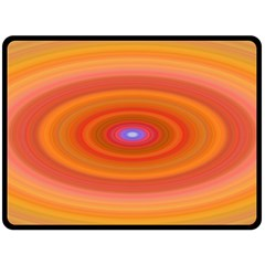Ellipse Background Orange Oval Fleece Blanket (large)