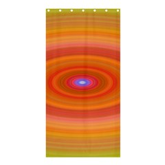 Ellipse Background Orange Oval Shower Curtain 36  X 72  (stall)