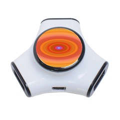 Ellipse Background Orange Oval 3 Port Usb Hub