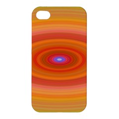 Ellipse Background Orange Oval Apple Iphone 4/4s Hardshell Case