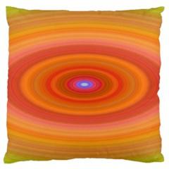 Ellipse Background Orange Oval Large Cushion Case (one Side)