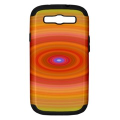 Ellipse Background Orange Oval Samsung Galaxy S Iii Hardshell Case (pc+silicone)