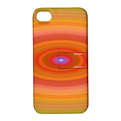 Ellipse Background Orange Oval Apple Iphone 4/4s Hardshell Case With Stand