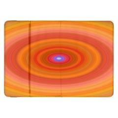 Ellipse Background Orange Oval Samsung Galaxy Tab 8 9  P7300 Flip Case