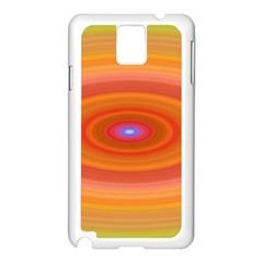 Ellipse Background Orange Oval Samsung Galaxy Note 3 N9005 Case (white)