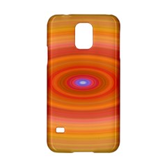 Ellipse Background Orange Oval Samsung Galaxy S5 Hardshell Case