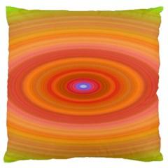 Ellipse Background Orange Oval Large Flano Cushion Case (two Sides)