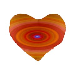 Ellipse Background Orange Oval Standard 16  Premium Flano Heart Shape Cushions