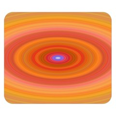 Ellipse Background Orange Oval Double Sided Flano Blanket (small)